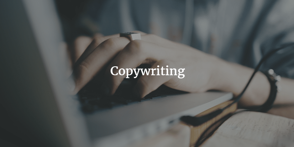 writing on a laptop - copywriting services for small businesses
