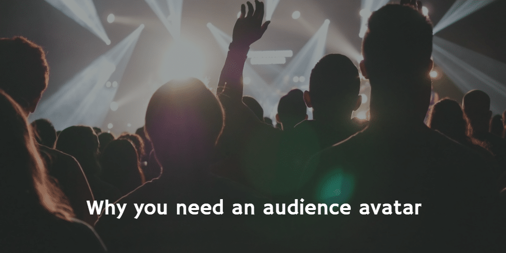 Image of an audience at a concert - Why you need an audience avatar