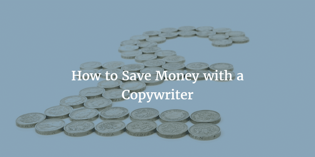 Pound coins shaped like a pound symbol - How to Save Money with a Copywriter
